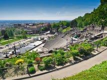 Roman Amphitheater in Lyon, Frankreich Lizenzfreie Stockfotografie