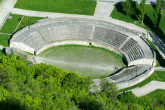 Roman amphitheater in Martigny Royalty Free Stock Image
