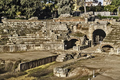 Roman amphitheater in Merida Royalty Free Stock Image