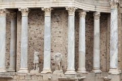 Roman amphitheater of Merida in Spain Stock Photos