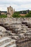 Roman Amphitheater in Nîmes, Frankreich stockbilder