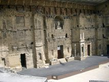 Roman Amphitheater na laranja Fotos de Stock Royalty Free