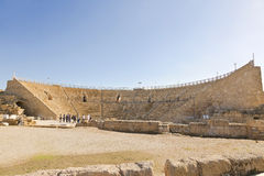 Roman amphitheater in the national park Caesarea Stock Image