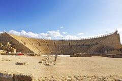 Roman amphitheater in the national park Caesarea Stock Image