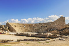Roman amphitheater in the national park Caesarea Royalty Free Stock Photography