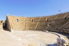 Roman amphitheater in the national park Caesarea Royalty Free Stock Photos