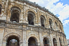 Roman amphitheater in Nimes Royalty Free Stock Images