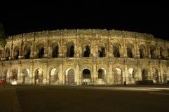 Roman Amphitheater in Nimes Stock Photos