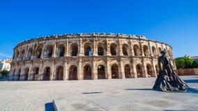 Roman Amphitheater Nimes France stock fotografie