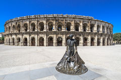 Roman Amphitheater in Nimes, France Stock Photos