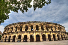 Roman amphitheater at Nimes Stock Photos