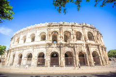 Roman amphitheater in Nimes, Provence Stock Photography