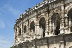 Roman amphitheater in Nime, France royalty free stock photography