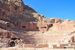 Roman Amphitheater - Petra, Jordan Royalty Free Stock Image