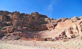 Roman Amphitheater - Petra, Jordan Stock Photography