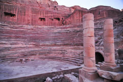 Roman Amphitheater - Petra, Jordan Royalty Free Stock Photo