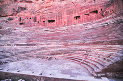 Roman Amphitheater - Petra, Jordan Stock Photography