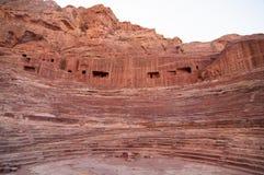 Roman Amphitheater - Petra, Jordan Stock Images
