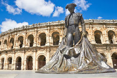 Roman Amphitheater in Provence, France Royalty Free Stock Photo
