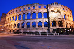 The Roman Amphitheater of pula Royalty Free Stock Image
