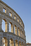 Roman amphitheater in Pula Stock Photos