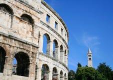 Roman Amphitheater in Pula Stock Image