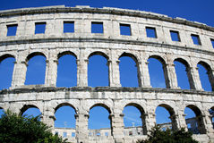 Roman Amphitheater in Pula Stock Image