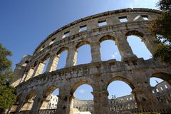Roman amphitheater of Pula (Croatia) Royalty Free Stock Photography