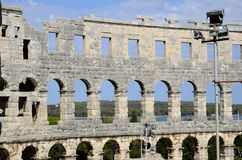 Roman amphitheater of Pula (Croatia) Royalty Free Stock Photo