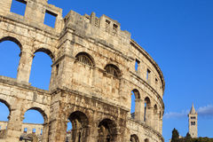 Roman Amphitheater - Pula - Croatia Stock Photo