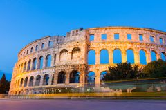 The Roman Amphitheater of Pula, Croatia. Royalty Free Stock Photography