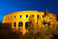 The Roman Amphitheater of Pula, Croatia. Royalty Free Stock Image