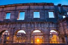 The Roman Amphitheater of Pula, Croatia. Stock Image