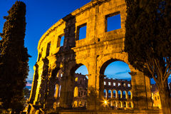 The Roman Amphitheater of Pula, Croatia. Royalty Free Stock Images