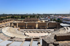Roman Amphitheater ruin Italica Stock Photos