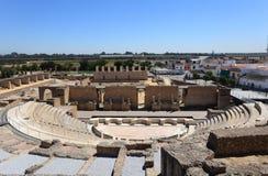 Roman Amphitheater ruin Italica Stock Photos