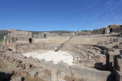Roman amphitheater ruin, Spain Stock Photography