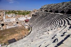 Roman amphitheater in Side, Turkey Stock Images