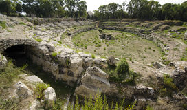 Roman Amphitheater in Syracuse Royalty Free Stock Photos