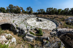 Roman amphitheater in Syracuse, Sicily Royalty Free Stock Photography