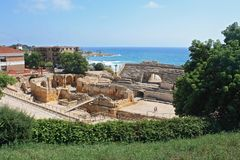 Roman amphitheater in Tarragona Stock Photo