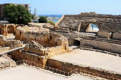 Roman amphitheater in Tarragona Royalty Free Stock Image