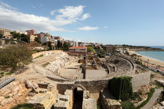Roman Amphitheater in Tarragona Royalty Free Stock Images