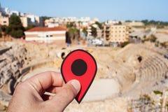 Roman Amphitheater in Tarragona, Spain Stock Image