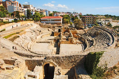 Roman amphitheater in Tarragona, Spain Stock Images