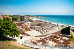 Roman amphitheater in Tarragona Stock Photos