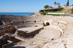 Roman amphitheater in Tarragona Royalty Free Stock Photo