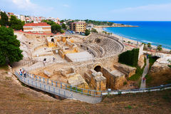 Roman amphitheater in Tarragona. Spain Royalty Free Stock Image