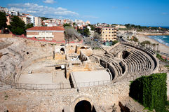 Roman amphitheater of Tarragona.Spain Stock Images