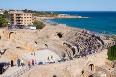 Roman amphitheater in Tarragona Stock Image